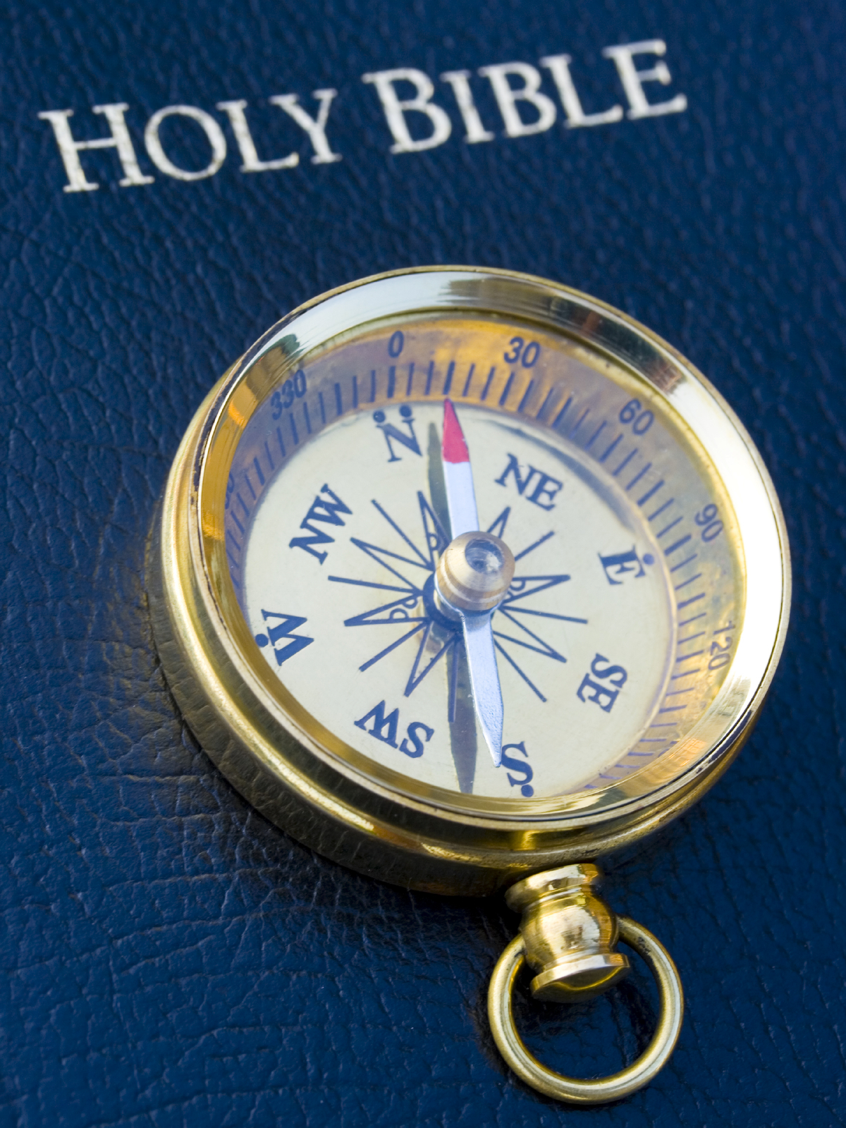 Compass on Bible