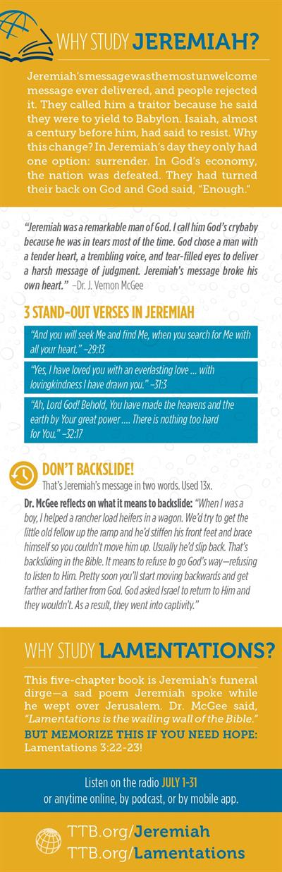 Why Study Jeremiah & Lamentations